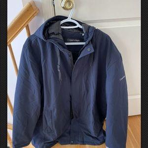 Calvin Klein Stretch Hoddy Men Coat Jacket size XL